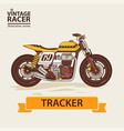 vintage racing motorcycle vector image