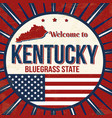 welcome to kentucky vintage grunge poster vector image vector image