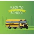 yellow school bus isolated on green vector image vector image