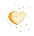 yellow simple heart icon fun cartoon romantic vector image vector image