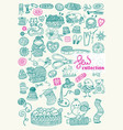 sewing kit big collection vector image