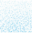 abstract halftone blue square pattern background vector image vector image