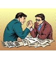 Arm wrestling business competition vector image vector image