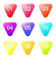 arrow ball point colorful gradient markers with a vector image