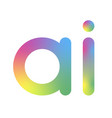 artificial intelligence logo ai letter vector image vector image