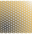 Background of hexagons with a yellow light vector image vector image