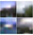 Blur landscape backgrounds Editable vector image vector image