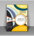 brochure design business vector image vector image