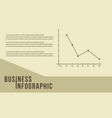 business infographic line graph design vector image