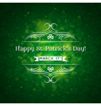 Card for St Patricks Day with many shamrocks vector image vector image