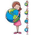Child and earth vector | Price: 1 Credit (USD $1)