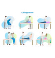 chiropractor collection set vector image vector image