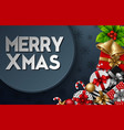 christmas round frame with christmas element vector image vector image