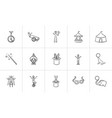circus hand drawn sketch icon set vector image