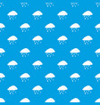 clouds and hail pattern seamless blue vector image vector image