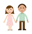 couple man woman love icon vector image