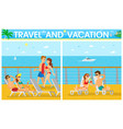 couples on cruise liner vacation on ship vector image vector image