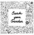 Create your Garden Frame vector image vector image