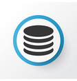 database icon symbol premium quality isolated db vector image vector image