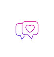 dating app love chat line icon vector image vector image