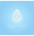 Easter egg with zentangle vector image vector image