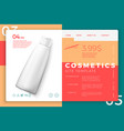 eps10 cosmetic shampoo bottle modern site template vector image vector image