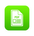 file pdf icon digital green vector image vector image