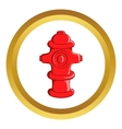 Fire hydrant icon vector image vector image