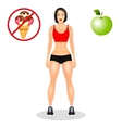 Fitness concept with fit woman in sportswear vector image