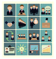 flat icons business vector image