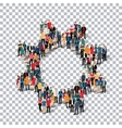 gear people sign 3d vector image vector image