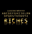 gold font with additional currency vector image vector image