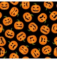 Halloween pumpkin adorable seamless background vector image