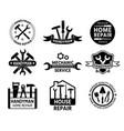 handyman logo mechanic and home repair service vector image