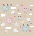 happy easter card with sheep holiday vector image vector image