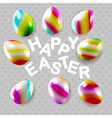 Happy easter square composition vector image vector image