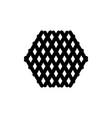 hexagon silhouette vector image vector image