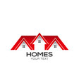 homes for sale logo design vector image vector image