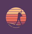logo design baseball professional with batter vector image vector image