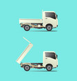mini truck small transport vehicle vector image