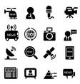 news reporter icons vector image vector image