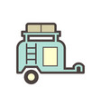 off road trailer icon vector image