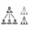 people organization structure composition icon of vector image vector image