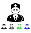 physician flat icon vector image