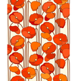 Poppies seamless floral background