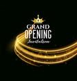 premium grand opening dark invitation banner vector image vector image