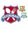 restaurant label vector image vector image