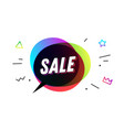sale banner speech bubble poster vector image vector image
