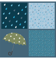 Seamless patterns with raindrops vector image vector image