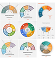 Set 9 templates Infographics vector image